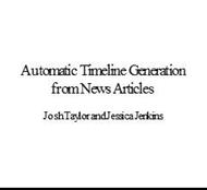 Automatic Timeline Generation from News Articles powerpoint presentation