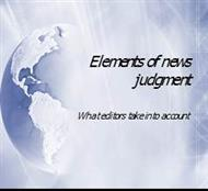 Elements of news judgment powerpoint presentation