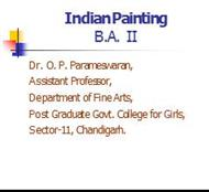 Indian Painting B.A. II powerpoint presentation