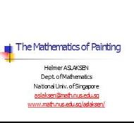 The Mathematics of Painting powerpoint presentation