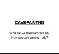 CAVE PAINTING powerpoint presentation