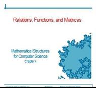 Relations, Functions, and Matrices powerpoint presentation