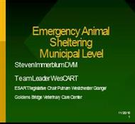 Emergency Animal Sheltering Municipal Level powerpoint presentation