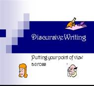 Discursive Writing powerpoint presentation