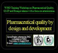 Pharmaceutical quality by design and development powerpoint presentation