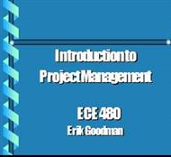 Introduction to Project Management -: ECE 480 powerpoint presentation