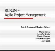 SCRUM –Agile Project Management powerpoint presentation