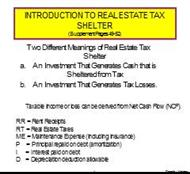 INTRODUCTION TO REAL ESTATE TAX SHELTER powerpoint presentation
