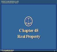 Chapter 48 Real Property powerpoint presentation