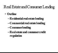 Real Estate and Consumer Lending powerpoint presentation