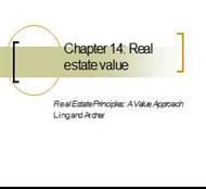 Chapter 14: Real estate value powerpoint presentation