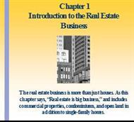 Chapter 1 .Introduction to the Real Estate Business powerpoint presentation