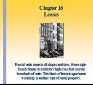Chapter 16 . Leases powerpoint presentation