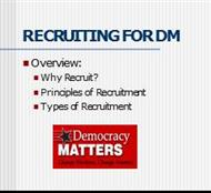 Recruiting For DM powerpoint presentation
