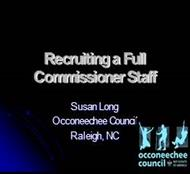 Recruiting a Full Commissioner Staff powerpoint presentation