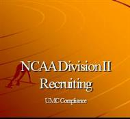 NCAA Division II Recruiting powerpoint presentation