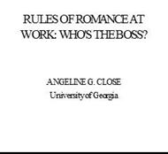 RULES OF ROMANCE AT WORK: WHO'S THE BOSS? powerpoint presentation