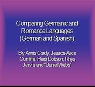 Comparing Germanic and  Romance Languages (German and Spanish) powerpoint presentation