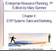 Chapter 4: ERP Systems: Sales and Marketing powerpoint presentation