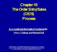 Chapter 10 : The Order Entry/Sales (OE/S) Process powerpoint presentation