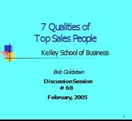 7 Qualities of Top Sales People powerpoint presentation