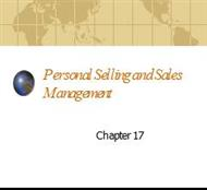 Chapter 10  .Personal Selling and Sales Management powerpoint presentation