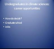 Undergraduates in climate sciences:  career opportunities powerpoint presentation