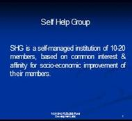 Self Help Group powerpoint presentation