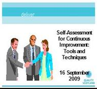 Self- Assessment for Continuous Improvement: Tools and Techniques powerpoint presentation