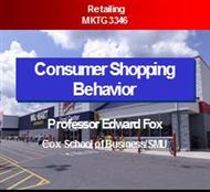 Consumer Shopping Behavior powerpoint presentation