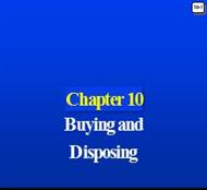 Chapter 10 : Buying and Disposing powerpoint presentation