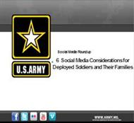 6 Social Media Considerations for Deployed Soldiers and Their Families powerpoint presentation
