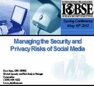 Managing the Security and  Privacy Risks of Social Media powerpoint presentation
