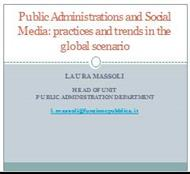 Public Administrations and Social Media: practices and trends in the global scenario powerpoint presentation