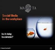 Social Media in the workplace-: Is it riskybusiness? powerpoint presentation
