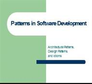 Patterns in Software Development powerpoint presentation
