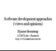 Software development approaches powerpoint presentation