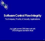 Software Control Flow Integrity powerpoint presentation