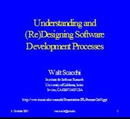 Understanding and (Re) Designing Software Development Processes powerpoint presentation