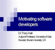 Motivating Software  Developers powerpoint presentation