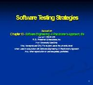 Software Testing Strategies powerpoint presentation
