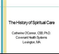 The History of Spiritual Care powerpoint presentation