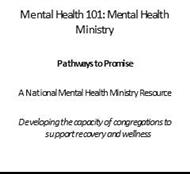 Mental Health 101: Mental Health Ministry powerpoint presentation