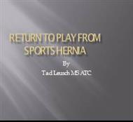 RETURN TO PLAY FROM SPORTS HARINA powerpoint presentation