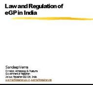 Law and Regulation of eGP in India powerpoint presentation