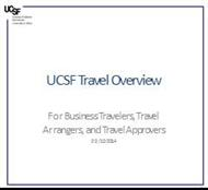 UCSF Travel Overview powerpoint presentation