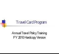 Travel Card Program powerpoint presentation