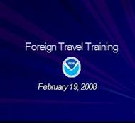 Foreign Travel Training powerpoint presentation