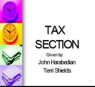 TAX SECTION powerpoint presentation