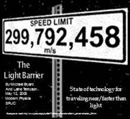 THE LIGHT BARRIER : State of technology for Traveling near/faster than light powerpoint presentation